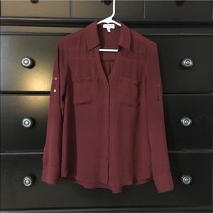 Express Burgundy Portofino Shirt